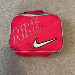Pink Nike lunch bag